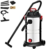 KUPPET Wet/Dry Vacuum Cleaner, Vac Portable Shop Vacuum with Attachments, 13 Gallon, 4 Horsepower, Stainless Steel Tank(1200W). (Color: Silver, Tamaño: 50L)