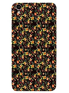 Omnam Small Yellow Flower Pattern Printed Designer Back Cover Case For Oppo F1 Plus