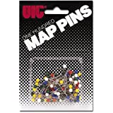 Officemate OIC Map Pins, Assorted Colors, 100 per Pack (30060)