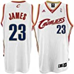 LeBron James Jersey: adidas White Swi...