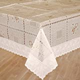 Bianca La-Italia PVC 4 Seater Table Cloth - White