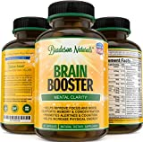 Brain Booster Supplement. Natural Nootropic. Supports Mental Clarity. Improves Memory & Focus. Increases Level of Concentration, Cognition & Alertness. Enhanced Blend of DMAE, Bacopa Extract & More