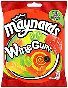 Maynards Wine Gums Bag 190 g (Pack of 6)