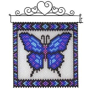 herrschners blue butterfly beaded banner kit