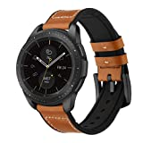 Kartice Compatible Galaxy Watch (42mm) Bands,Gear Sport Bands,20mm Hybrid Leather Strap Replacement Buckle Band for Samsung Galaxy Watch SM-R810/SM-R815 /Gear Sport/Ticwatch E Smart Watch.-Brown2 (Color: Brown2)