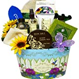 Art of Appreciation Gift Baskets Garden Delights Green Tea Spa Bath and Body Set