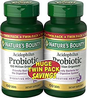 Nature's Bounty Acidophilus Twin Pack, 100 Tablets