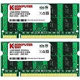 Komputerbay 2GB 2X1GB DDR2 533MHz PC2-4200 PC2-4300 DDR2 533 (200 broches) SODIMM mémoire d'ordinateur portable