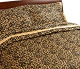 61OVmeEn9CL. SL160  Regal Collection 300 Thread Count Leopard Print King Duvet Set