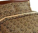 Regal Collection 300 Thread-Count Leopard Print King Duvet Set
