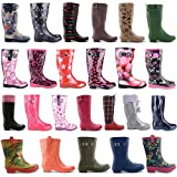 New Womens Ladies Festival Rain Snow Wellington Boots Size UK 3 4 5 6 7 8 Winter Riding Wellies
