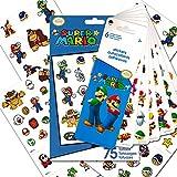 Nintendo Super Mario Stickers & Tattoos Party Favor Pack (100 Stickers & 75 Temporary Tattoos)
