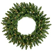 42 Pre-Lit Camdon Fir Artificial Christmas Wreath - Clear Dura Lit Lights