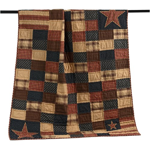 Patriotic Patch Throw Quilt