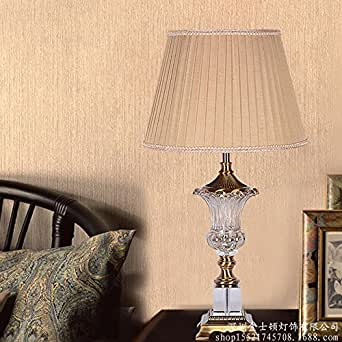 Lijun European Glass Crystal Table Lamp Living Room Lamp Bedroom Villa