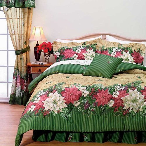 Christmas Bed In A Bag Poinsettia Border Christmas