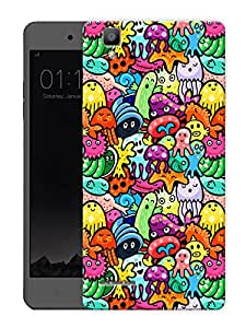 "Cute Doodle Art Printed Designer Mobile Back Cover For ""Oppo F1"" (3D, Matte, Premium Quality Snap On Case)"