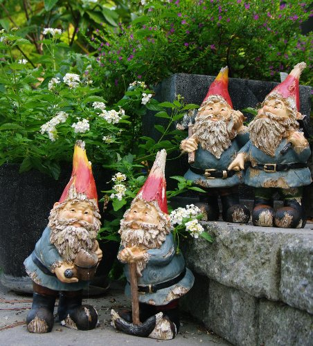 Terrapin Trading, C5/TDE-GGA4, Garden Gnomes Mixed Assortment Set of Four