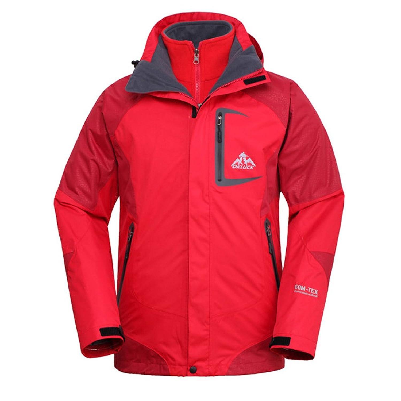 OKLUCK Herren 3in1 Wasserdicht Winddicht Sports Jacke Outdoor Camping Wandern Klettern Atmungsaktive Outerwear günstig kaufen