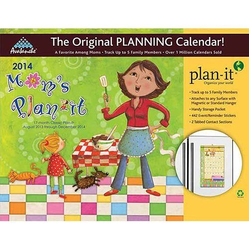 Mom's Plan-it Magnetic Mount 17-Month Wall Calendar 2014 (August 2013- December 2014)