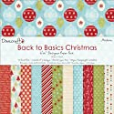 "Back To Basics Christmas Paper Pack 6""X6"" 72 Sheets-Modern - 12 Designs/6 Each"