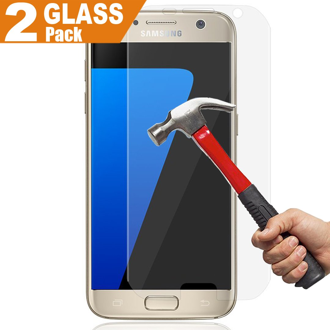 (2 Pack) SamSung Galaxy S7 Glass Screen Protector, InaRock 0.26mm Tempered Glass Screen Protector for SamSung Galaxy S7 (Not Support Samsung S7 Edge)
