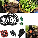 Sellify 5m 15Ft DIY Micro 10 Drip Irrigation System Plant Self Watering Garden Hose Kits Adjustable Dripping Balcony...