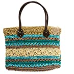 Turquoise Striped Bag