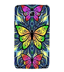 printtech Colored Butterfly Back Case Cover for Samsung Galaxy Core i8262 / Samsung Galaxy Core i8260