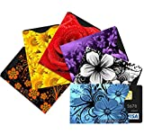 """Best RFID Blocking Sleeve Bundle Includes Bonus eBook """"How to Protect Yourself 2016"""" - 6 Designer Credit Card Protector Sleeves Offer ID Theft Protection - Complete Personal Security Solution - 90 Day Money Back Guarantee"""