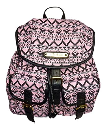 Ladies LYDC Anna Smith Designer Retro Aztec Print Rucksack Backpack by Anna Smith