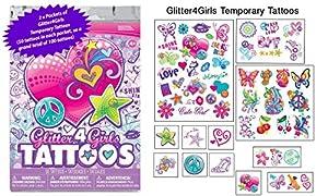 100 Glitter4Girls Girls Temporary Tattoos - 100+ assorted glitter tattoos ...