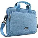 Evecase 11.6'' ~ 12.5'' Notebook Chromebook Laptop Ultrabook Suit Fabric Multi-functional Neoprene Messenger Case Tote Bag with Handle and Carrying shoulder Strap (Blue)