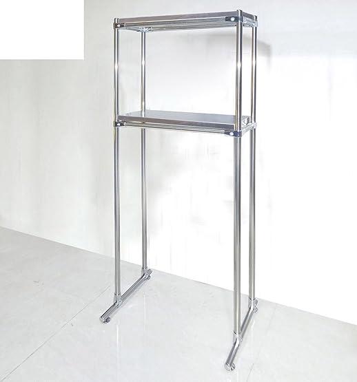 bagno WC/Strati di ispessimento del pavimento della piastra lavatrice/Bagno rack di stoccaggio/Cremagliere in acciaio inox-D