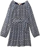 Speechless Big Girls Long Sleeve Printed Chiffon Dress