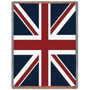 Knitting Pattern For Union Jack Blanket : Amazon.com - Union Jack Flag Blanket Throw - 69x48 USA Made - British Flag