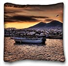 Custom Decoration Square Throw PillowCase - City boat rocks bird images mountain river hdr 20*36 Two Sides