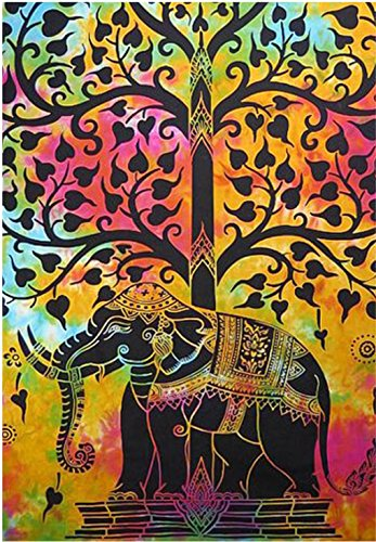 indian-hippie-gypsy-bohemian-psychedelic-good-luck-tie-dye-elephant-tree-wall-hanging-tapestry-twin-