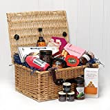 The Fitzroy Luxury Wicker Hamper Basket from Fine Food Store (15 Items) - Gift Ideas For -Christmas,Birthday,Wedding,Anniversary,Engagement,Valentines,Retirement,Him,Her,Thank,You,Fathers Day,Mothers Day, 18th,21st,30th,40th,50th,60th,70th,80th,90th,100th