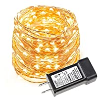 LE 33ft LED String Lights, 100 LEDs, Copper Wire, Flexible Fairy Lights, Warm White, Indoor and Outdoor Starry String Lights for Garden, Patio, Wedding,Tree, Party, Christmas, Halloween, UL Listed by Lighting EVER
