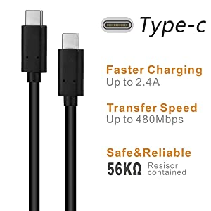 USB Type C Cableï¼?3.0ï¼? RUIZHI USB C to USB C Cable (3.3ft) fast charging line for Samsung Note 8 S8 plus, Galaxy S9, MacBook pro, LG G5 G