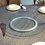 Luxury Outdoor Garden Glass Lazy Susa...