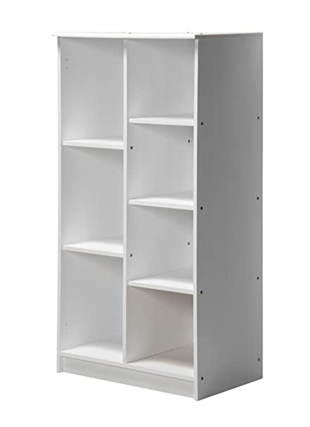 Design Vicenza Avola Storage Unit No Doors With Rail Whitewash
