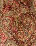 """Lauren Ralph Lauren Tablecloth - 70"""" Fenton Paisley Round Rust"""