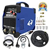 Plasma Cutter, 50A Inverter AC-DC IGBT Dual Voltage (110/220V) Cut50 Professional Fashion Luxury Portable Welding Machine with Intelligent Digital Display Free Accessories(Blue) (Color: Blue)