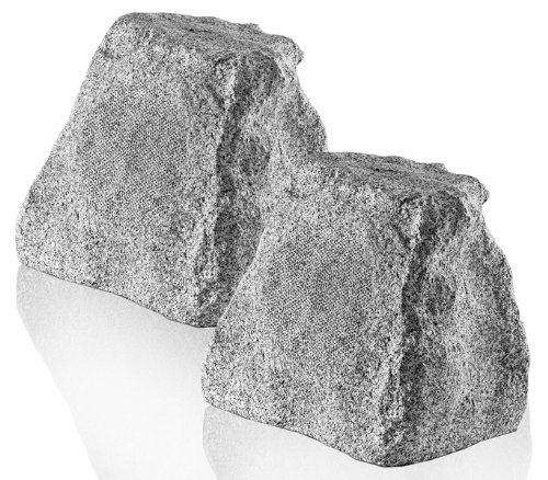 Osd Audio Rx550 5.25-Inch 2-Way Outdoor 100-Watt Rock Speaker Pair, White Granite