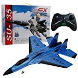 Antibacterial Slow Rebound SU-35 RC Helicopter 2.4GHz Plane Glider Airplane EPP Foam Remote Control Aircraft - Lift, Advance Retreat, Turn, Side Fly, Fine-Tuning (Blue) (Color: Blue)
