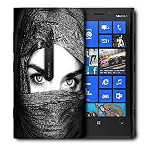 Snoogg Girl Covering Her Face Printed Protective Phone Back Case Cover For Nokia Lumia 920