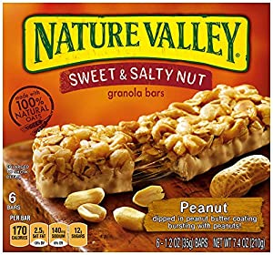 Nature Valley  Peanut Sweet and Salty Nut Granola Bars, 6 Count Box