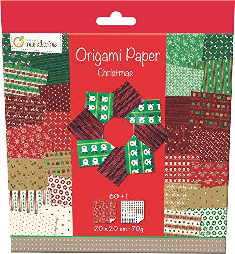 decopatch-52508o-avenue-mandarine-origami-paper-christmas-20-x-20-cm-60-feuilles-70-g